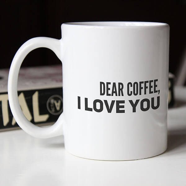 dearc offee i love you - coffee mug